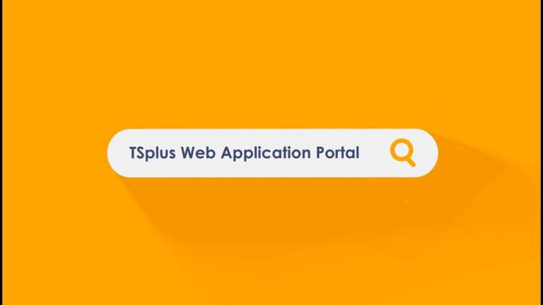 TSplus web application portal