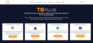 لقطة شاشة جديدة لحلول الوصول عن بعد tsplus.net